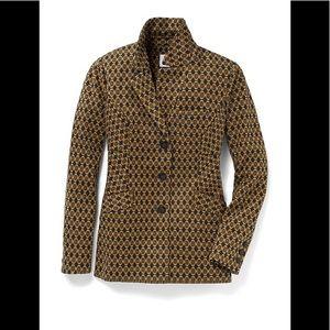 cabi SALE nwot gold/navy print ponte jacket sz M